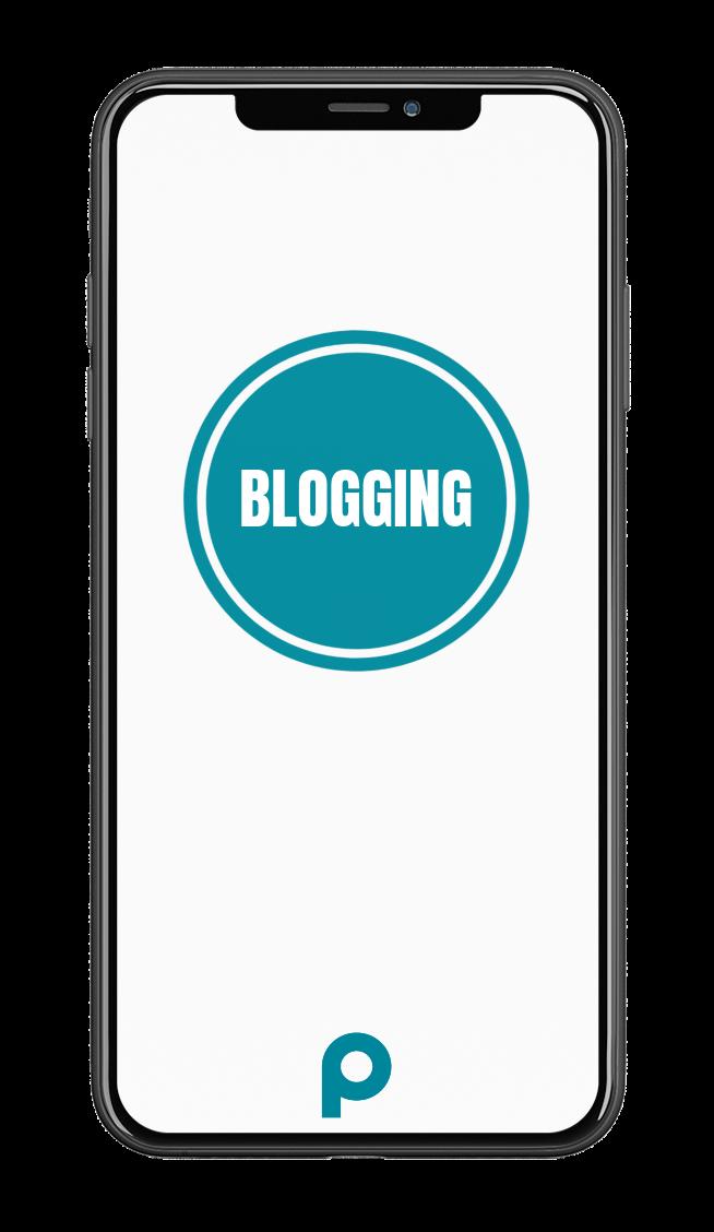 Blogging-Smartphone